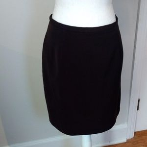 Dark Brown Lined Pencil Skirt